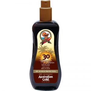 AUSTRALIAN GOLD SPRAY GEL WITH BRONZER 237ML SPF 30